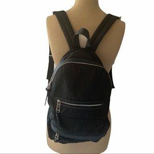 Madden Girl Black Nylon Backpack Book Bag